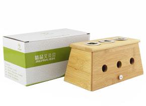 精品楠竹三孔艾灸盒