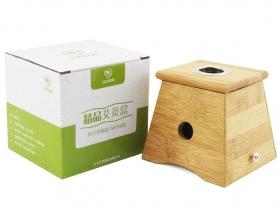 精品楠竹单孔艾灸盒