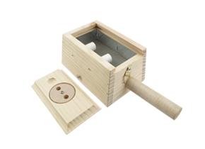 央视推荐 木质双针艾柱盒